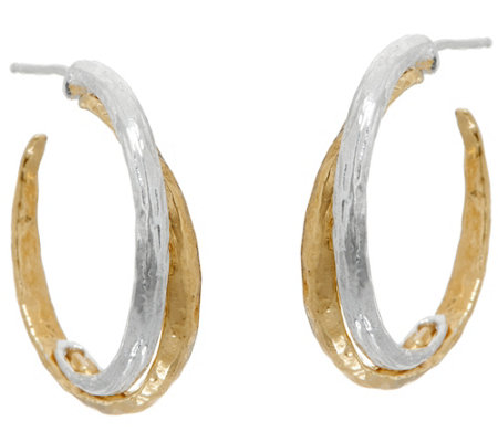 Or Paz Sterling Silver & 14K Gold Two-tone Hoop Earrings