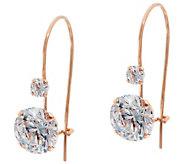 Diamonique 2.10cttw Round Dangle Earrings, 14K - J350447