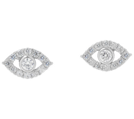 Netali Nissim for Diamonique 1/4 cttw Evil Eye Stud Earrings