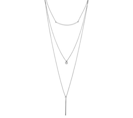 Sterling Three Strand Necklace, 13.7g by S ilver Style
