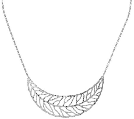 Sterling Leaf Necklace, 6.1g by Silver Style