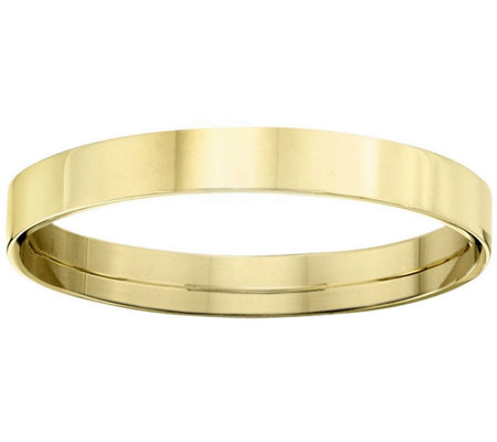 Men's 14K Yellow Gold 3mm Flat Wedding Band