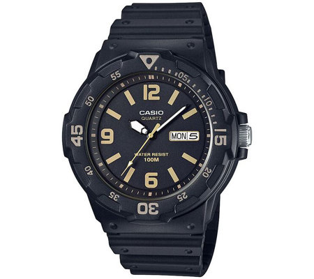 Casio Men's Black Analog Watch