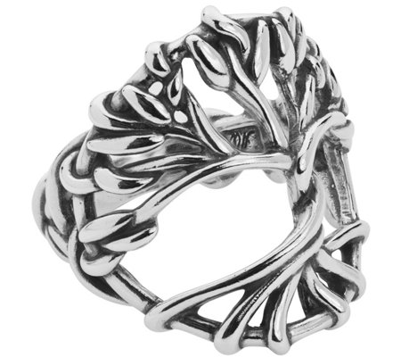 American West Sterling Tree of Life Ring