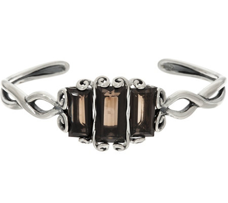 Carolyn Pollack Sterling Embrace the Stone Smoky Quartz Cuff