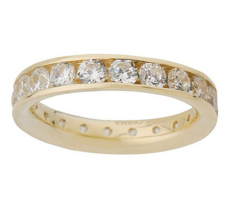 Diamonique 1 80 cttw Silk Fit Eternity Band 14K Gold Page 1