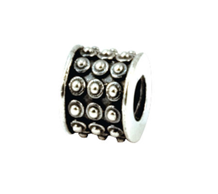 Prerogatives Sterling Rows of Dots Bali Bead