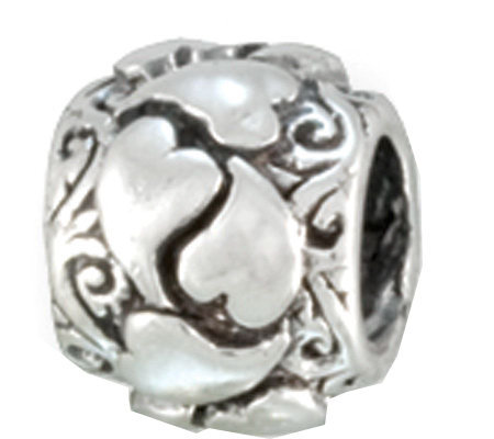 Prerogatives Sterling Wrapped Heart Bead
