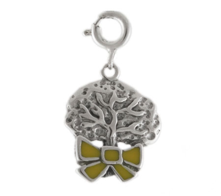 Sterling Yellow Ribbon Around the Tree Charm