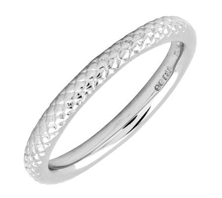Simply Stacks Sterling Silver Cable 2 25mm Ring