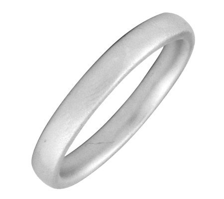 Simply Stacks Sterling Silver Rounded Satin 3.25mm Ring
