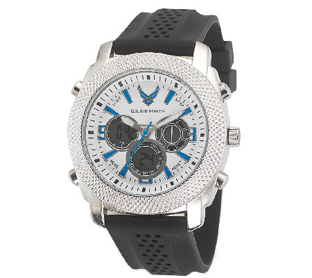 Wrist Armor Men's U.S. Air Force C21 White, Blue, Black Watch