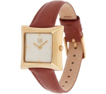 RLM Square Leather Strap Watch