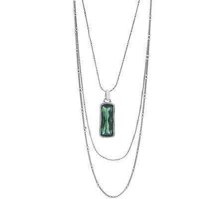 Unode50 Silvertone Multi Strand Swarovski Necklace