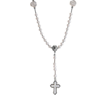 American West Sterling Mother-of-Pearl CrossNecklace