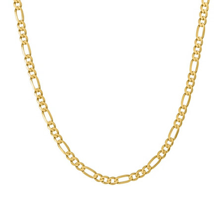 "14K Gold 24"" Figaro Necklace, 27.4g"