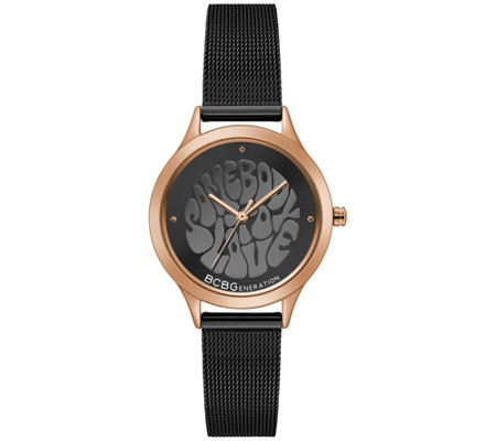 Bcbg Generation Women S Black Mesh Watch