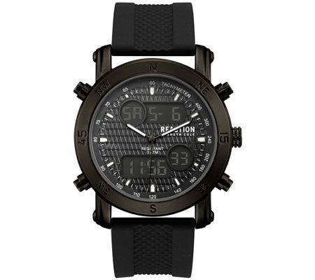 Kenneth Cole Reaction Men's Black Dial And Strap Watch
