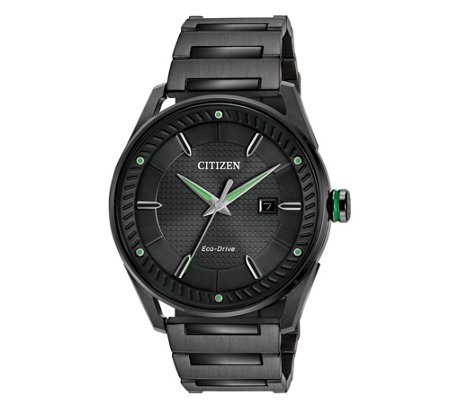 Citizen Eco Drive Men S Black Dial Watch
