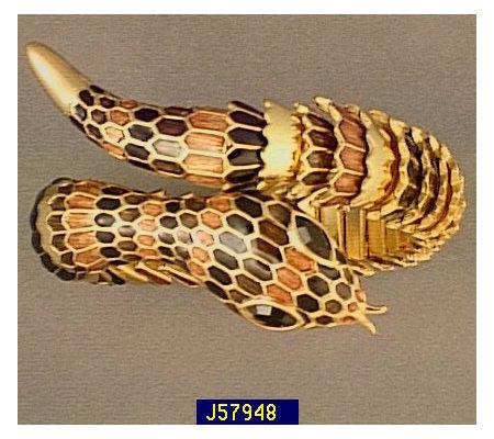 Joan Rivers Enamel Coil Snake Bracelet
