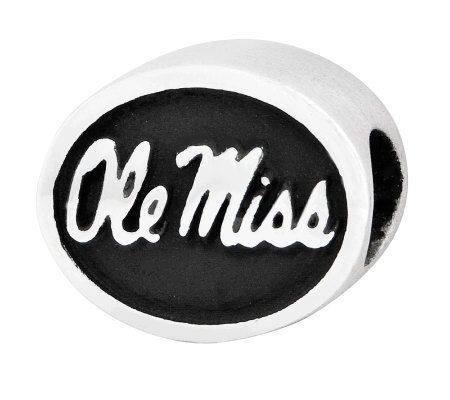 Sterling Silver University of Mississippi Bead