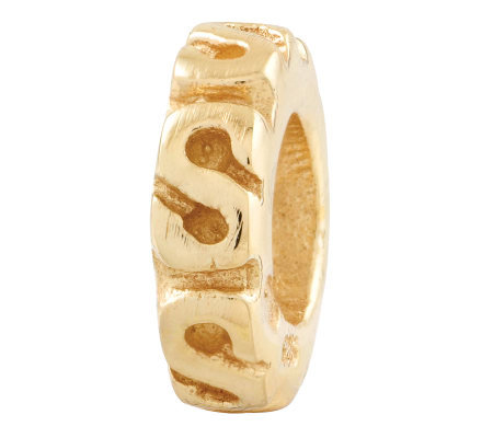 Prerogatives Gold-Plated Sterling Swirl SpacerBead