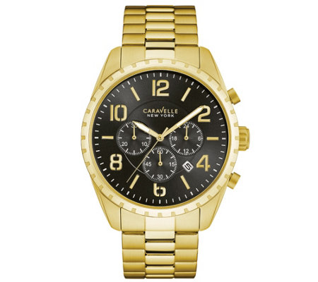 Caravelle New York Men's Goldtone Chronograph Watch