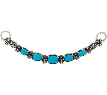 American West Sterling Silver Oval Turquoise Necklace Insert