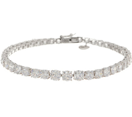 TOVA for Diamonique Graduated Tennis Bracelet Sterling