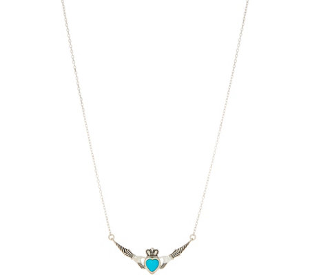 """As Is"" JMH Jewellery Sleeping Beauty Turquoise Sterl Silver Necklace"