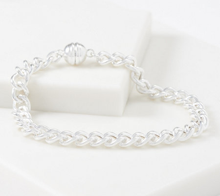 UltraFine Polished Chain Magnetic Clasp Bracelet, 9.2g