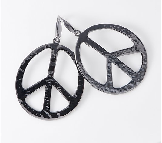 RLM Bronze Peace Sign Earrings