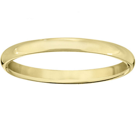 Women's 18K Yellow Gold 2mm Half Round WeddingBand