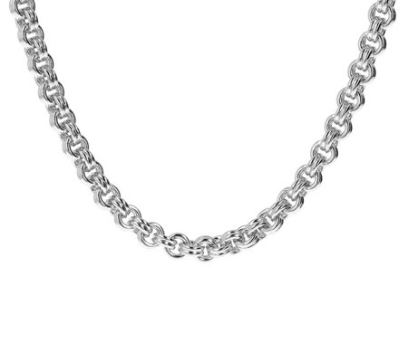 "Oro Nuovo 18"" Double Rolo Link Necklace w/ Magnetic Clasp, 14K"