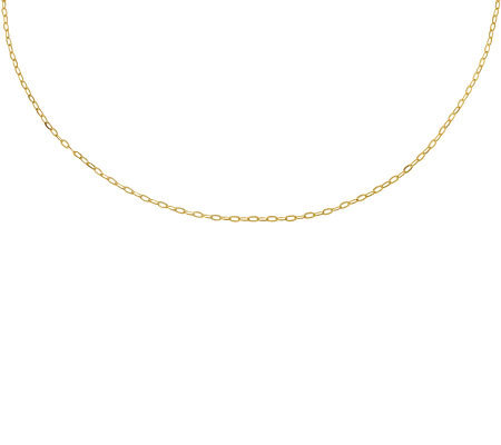 "24"" Polished Cable Chain, 14K Gold"