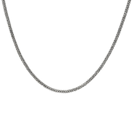 "Artisan Crafted Sterling Silver 18"" Tulang Naga Chain Necklace, 17.0g"