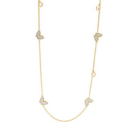 Lauren G Adams Goldtone Mother-of-Pearl Butterfly Necklace