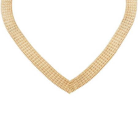 "Imperial Gold 19-1/2"" Wide Wheat Necklace 14K, 63.1g"
