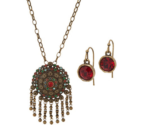 Linea by Louis Dell'Olio India Pendant Necklace Set