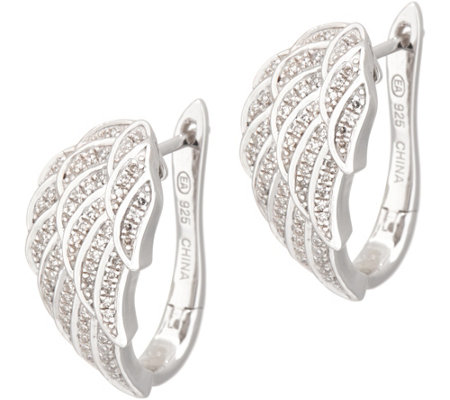 Angel Wing Diamond Earrings, Sterling, 1/4ct by Affinity