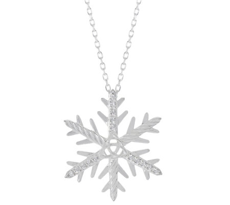 JMH Jewellery Sterling Silver Snowflake Necklace