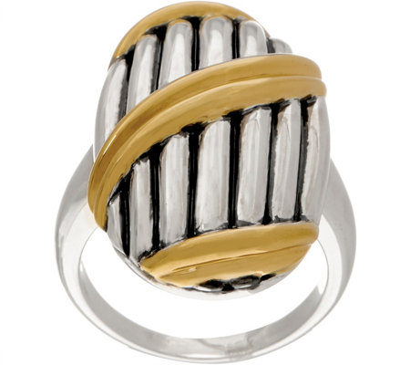 Peter Thomas Roth Sterling Silver & 18K Clad Shield Ring