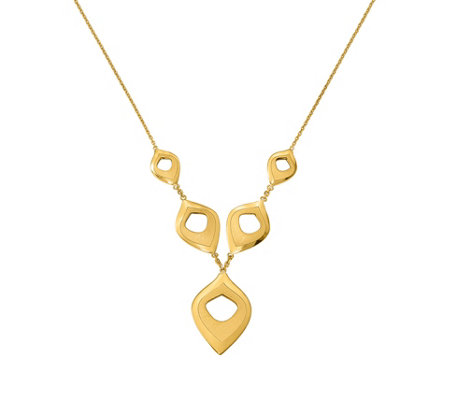 "14K Geometic Shape Drop 16"" Necklace, 4.5g"