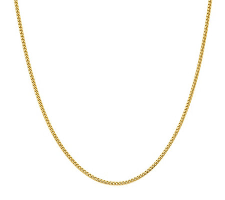 "14K Gold 24"" Small Link Curb Necklace, 21.9g"