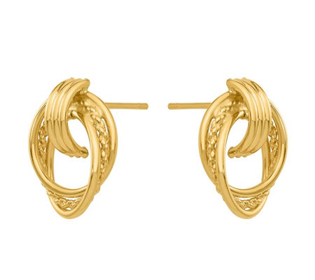 14K Gold Door Knocker Post Earrings