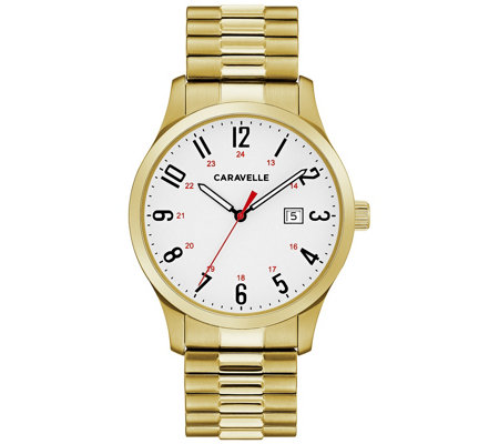 Caravelle By Bulova Men S Easy Reader Expansion Watch