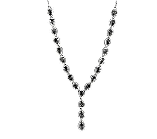 Affinity Sterling 5.85 cttw Black & White Diamond Necklace