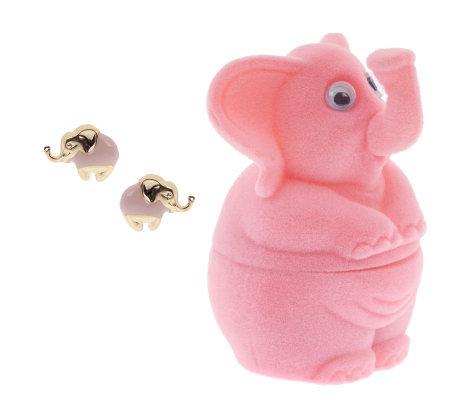 Childrens elephant stud earrings welephant box 14k gold page 1 childrens elephant stud earrings welephant box 14k gold freerunsca Images