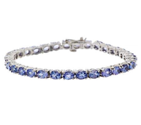 10 60 Ct Tw Tanzanite Sterling Tennis Bracelet 7 1 2