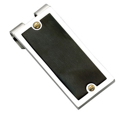 Forza Stainless Steel Black-Plated Money Clip